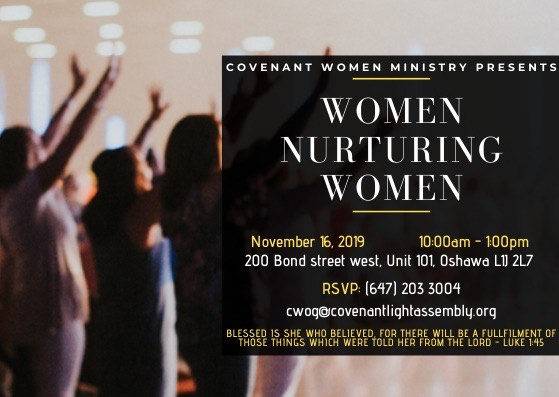 women nurturing women church event